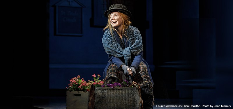 Lauren Ambrose in MY FAIR LADY. Photo by Joan Marcus