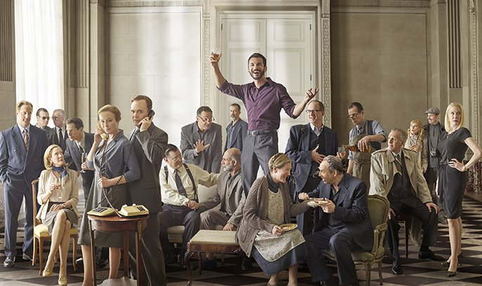 The cast of OSLO. Photo by Mark Seliger.