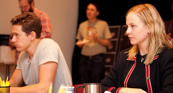 Chris O'Shea and Adelaide Clemens. Photo by Chasi Annexy