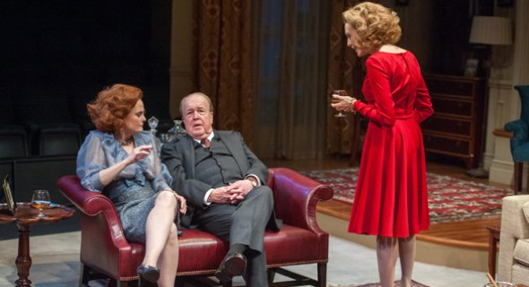 Barbara Garrick, John Aylward and Jan Maxwell. Photo by Stephanie Berger.