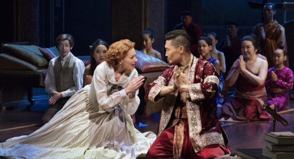 Marin Mazzie, Daniel Dae Kim. Photo by Paul Kolnik.
