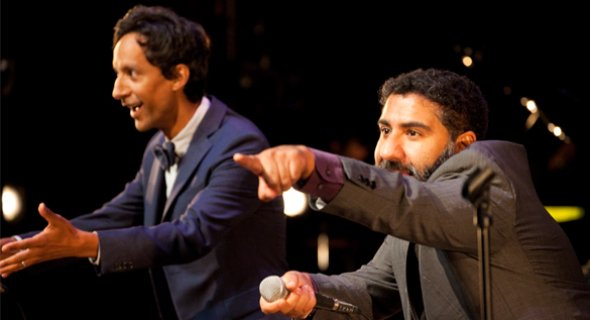 Hosts Danny Pudi and Parvesh Cheena in action. Photo by Chasi Annexy.