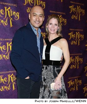 Ken Watanabe and Kelli O'Hara at opening night of THE KING AND I. Photo by Joseph Marzullo.