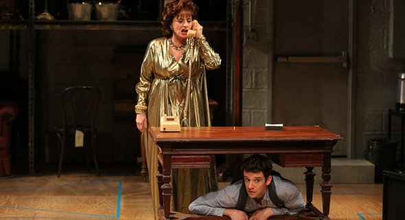 Patti LuPone and Michael Urie. Photo by Joan Marcus.