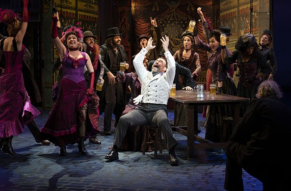 Danny Burstein and the ensemble of MY FAIR LADY. Photo by Joan Marcus.