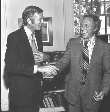 Bernard Gersten with New York City Mayor John Lindsay