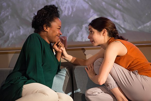 Eboni Booth and Cristin Milioti. Photo by Jeremy Daniel.
