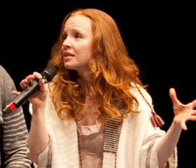 Lauren Ambrose at student matinee.