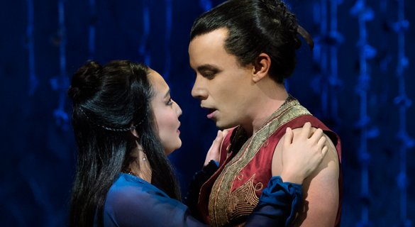 Ashley Park, Conrad Ricamora. Photo by Paul Kolnik.