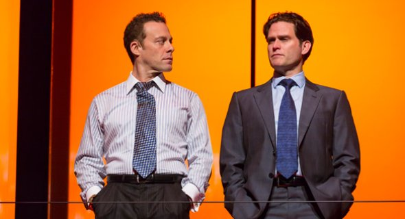 Matthew Rauch, Steven Pasquale. Photo by T. Charles Erickson.