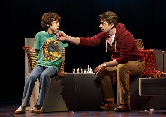 Anthony Rosenthal and Christian Borle. Photo by Joan Marcus.