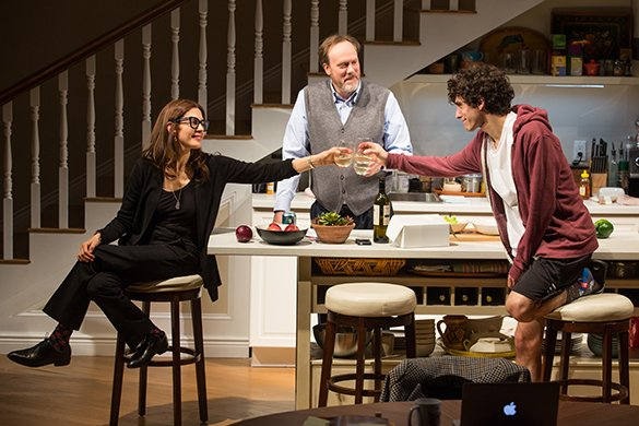 Jessica Hecht, Andrew Garman and Ben Edelman. Photo by Jeremy Daniel.