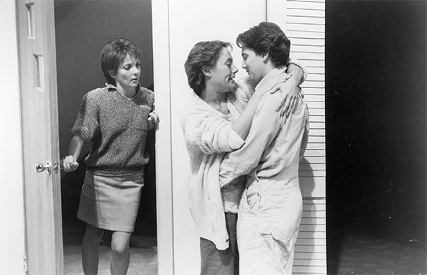 Christina Moore, Laurie Metcalf, and Andrew McCarthy. Photo by Mario Ruiz.