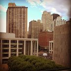 From atop Lincoln Center #LCT3 #lincolncenter #nyc #momentsofbeauty