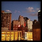 Lights coming on NYC. From the roof deck of the Claire Tow Theater. #LCT3