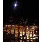 Opening night and moonlight. Lincoln Center. #lct3 #herrequiem #openingnight #moonbeamspotlight